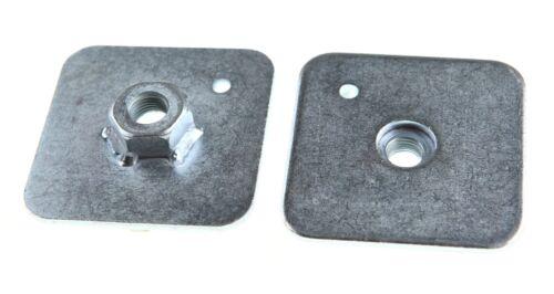 """2 x TRS 7//16/"""" UNF Thread Harness Eyebolt Back Plate 65mm x 65mm x 3mm FIA//MSA"""