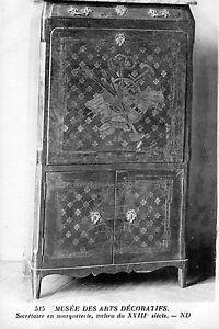 CPA-Musee-des-Arts-Decoratifs-Secretaire-en-Marqueterie-Epoque-XVIIIe