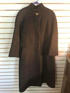 Vintage Women S Fog London Fog Black Wool Lined Button Coat Ebay