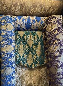 "Drapery and Upholstery Chenille Fabric By the Yard Elegant Damask Pattern 58"" w"