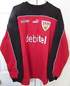 VfB-Stuttgart-Mens-Sweatshirt-Debitel-by-Puma-XL-EUC