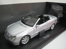 "Kyosho  Mercedes-Benz  CLK-Cabrio  ""Dealerversion""  (silber-met.) 1:18 OVP !!"