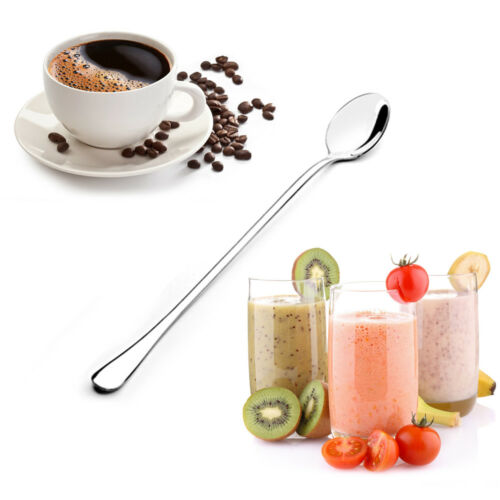 6pcs Longdrinklöffel Latte Macchiato Eislöffel Joghurtlöffel Löffel langstielig