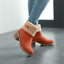 Women-Warm-Fluffy-Lined-Snow-Boots-Mid-Heels-Ankle-Boots-Suede-Winter-Shoes-Size