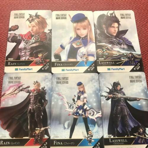 Final Fantasy Brave Exvius Card Family Mart Collaboration 6set Limited Japan
