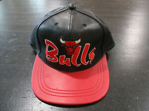 NEW-VINTAGE-Drew-Pearson-Chicago-Bulls-Snap-Back-Hat-Cap-Leather-Basketball-90s