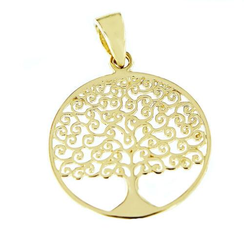 Anhänger Gold 585 Lebensbaum Kettenanhänger 14 Karat Baum des Lebens