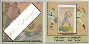 Charlie-Gehringer-Tigers-2018-HA-Originals-Strip-Card-amp-BAS-Auth-Cut-Auto-9-15