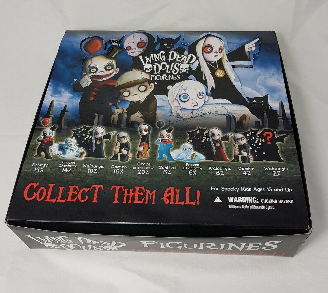 1 BOX OF 24 LIVING DEAD DOLLS - 2  RANDOM FIGURINE - SERIES 2