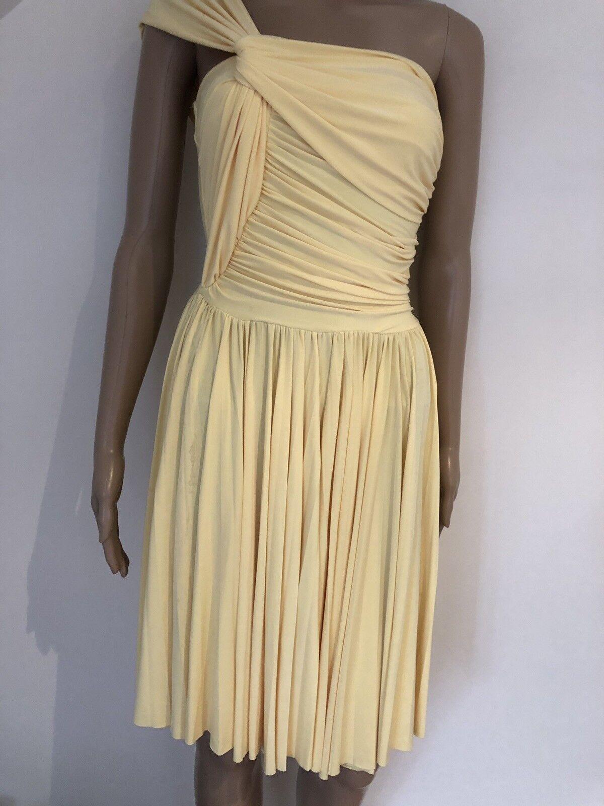 Goddiva Dress Grecian Style Yellow 8