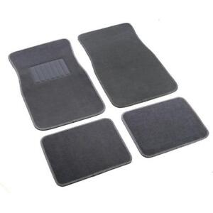 Pro Racing Universal Car Suv Carpet Black Floor Mats Front