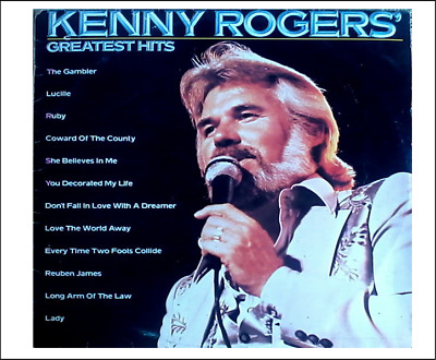 1 Miniature  /'KENNY ROGERS Greatest Hits /' record album Dollhouse 1:12 scale