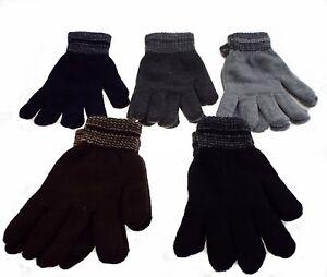 uni noir taille unique 1 paire de gant homme tactile