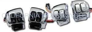 Kit-Completo-De-Interruptores-De-Manillar-Cromados-Para-Harley-Davidson
