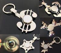 Key Chain Fidget Spinner Hand Tri Metal Dollar Sign Toy Adult Keychain Gyroscope