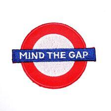 MIND THE GAP London Vacation Travel Underground Subway Railway Shirt Iron Patch