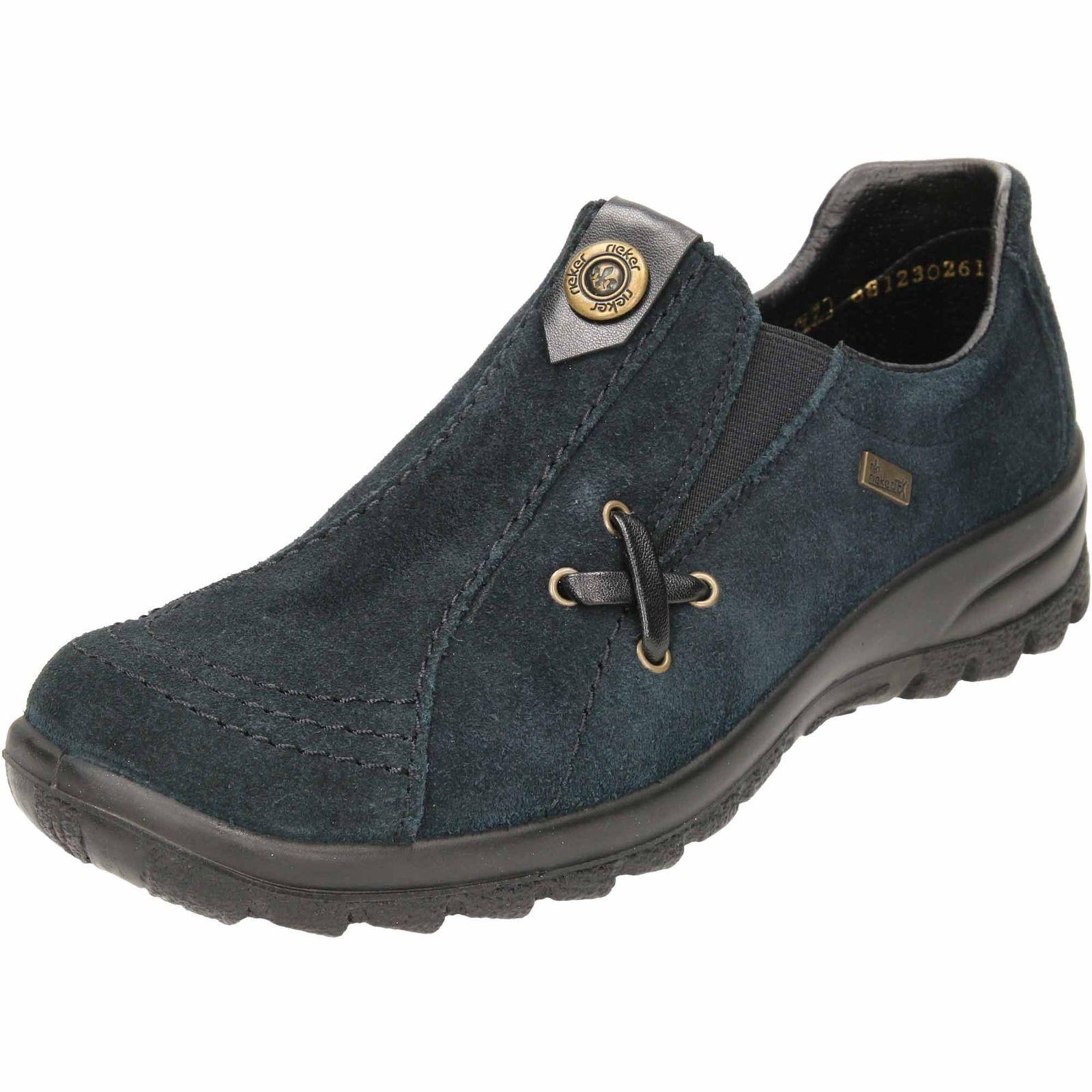 84ebe4740a6f25 Rieker L7171-14 scarpe basse in pelle pelle pelle scamosciata elegante scarpa  da passeggio