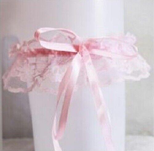 Jarretière en dentelle avec long noeud satiné lingerie accessoire mariage