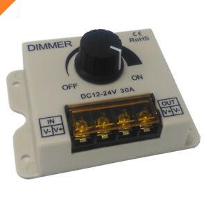 LED-Dimmer-12V-30A-with-a-knob-Adjustable-Brightness-Controller-DC-12V-24V-ABS
