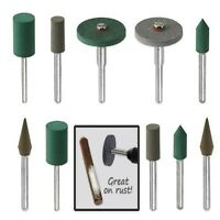 18pc Diamond-in-rubber Emery Polishing Bit Set
