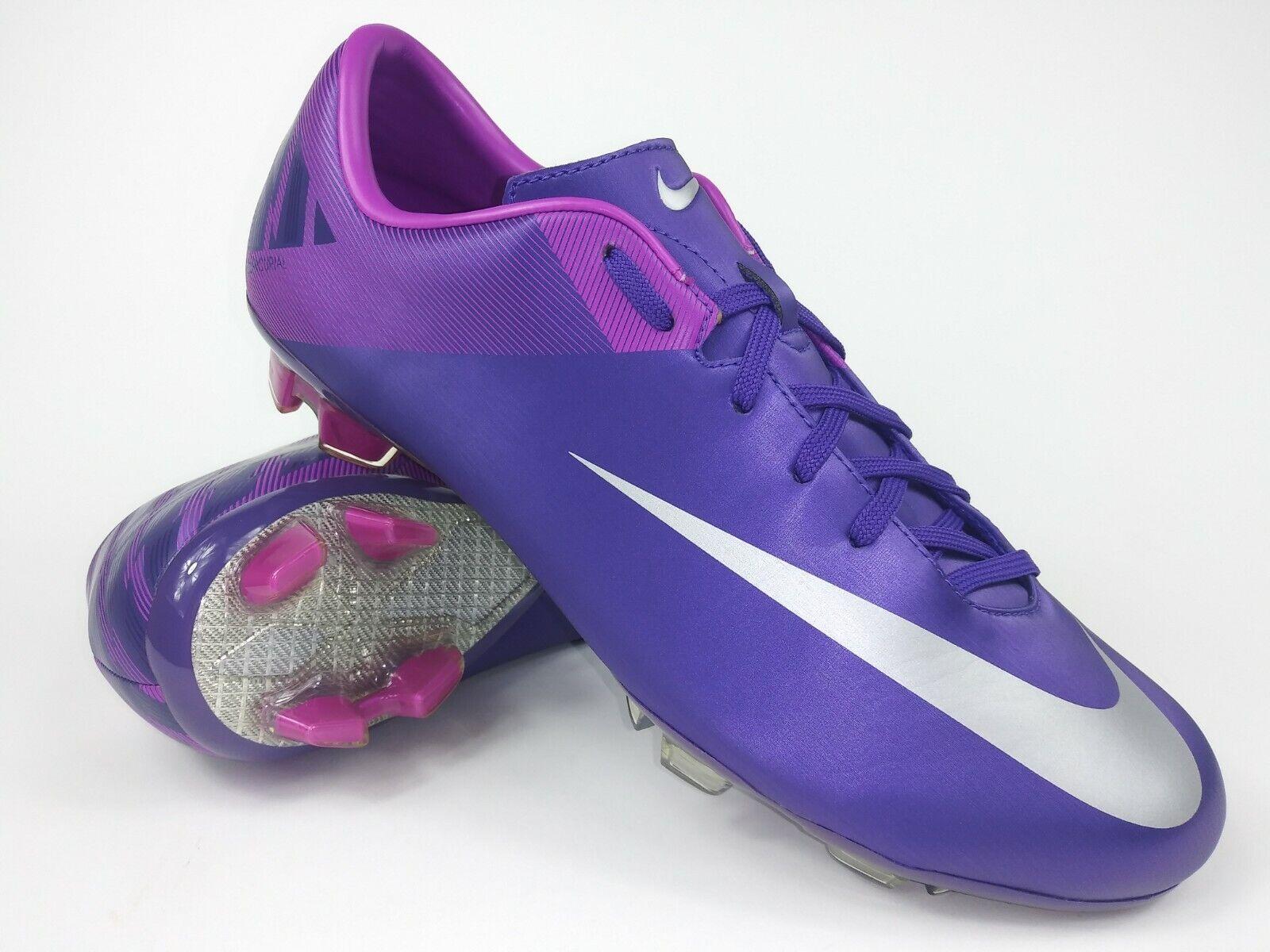 Nike Hombres Raro Mercurial Miracle Ll Fg 442047 505 Morado Fútbol Tacos botas