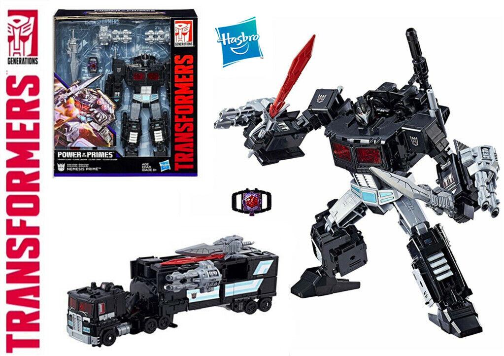 Transformers evolución Nemesis Prime Negro Optimus poder del modelo PRIMES potp Juguete