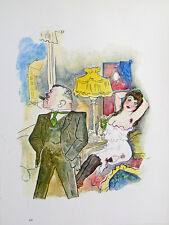 George Grosz Berlin Nude Erotik Prostituierte Bordell Freier Zigarre Strapse