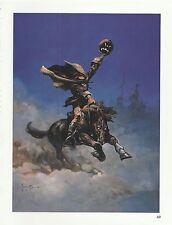 """1996 Full Color Plate """" Headless Horseman 1 """" by Frank Frazetta Fantastic GGA"""