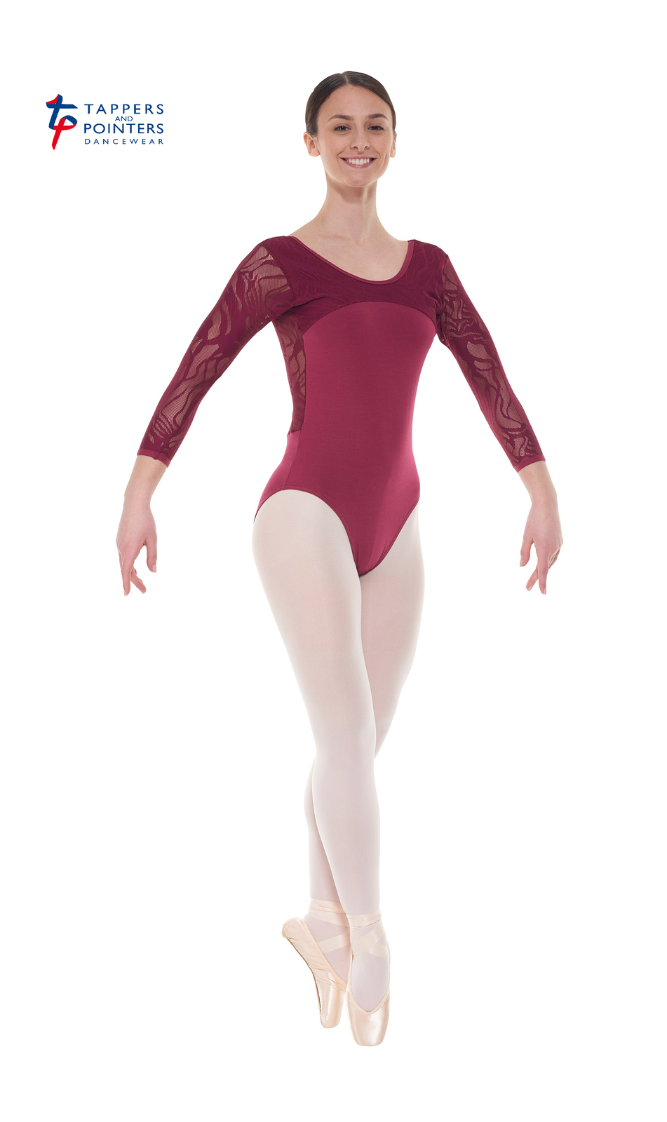 Tappers and Pointers Damen Ballett Tanz Trikot Trikot Trikot 3 4 Arm Spitze ELE 2 918289