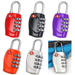 New TSA Security 4 Combination Travel Suitcase Luggage Bag Code Lock Padlock