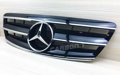 2003-06 Front Grille Shiny Black For Mercedes Benz W220 Facelifed