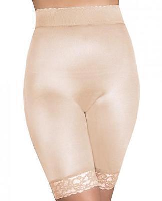Rago Shapewear Long Leg Shaper Gripper Lace Bottom - Beige - 8XL/46