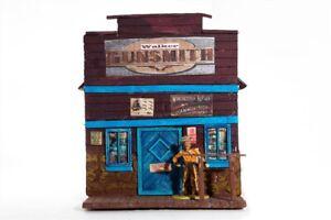 Potters-Old-West-Town-3040-Gunsmith-Wild-West-zu-7cm-Sammelfiguren-Fertigmode