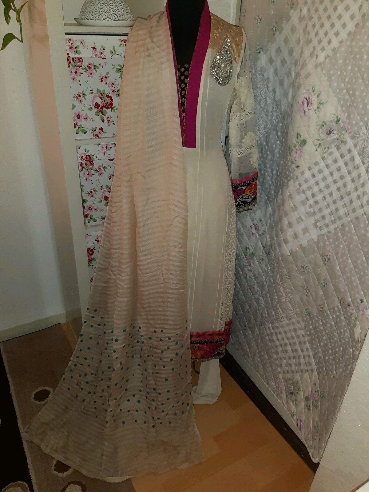 Salwar kameez set Bollywood gr M 3tlg Tunika farasha Dubai Kleid orientalisch