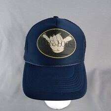 ThatsRad Black Hang Loose Mesh Trucker Hat Cap Shaka Surf