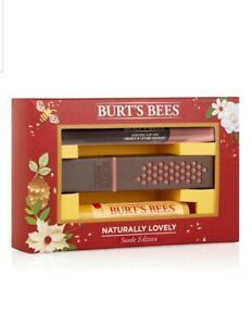 Burt-039-s-Bees-Naturally-Lovely-Suede-Gift-Set-44-85-Lipstick-Beewax-Balm-Burts