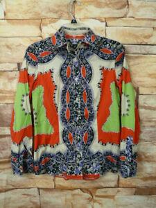 ETRO paisley print cotton shirt blouse women's Italian size 40 -US M Stretch