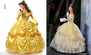 Image is loading 2018-New-Formal-Park-Dress-Beauty-and-Beast-  sc 1 st  eBay & 2018 New Formal Park Dress Beauty and Beast Belle Costume adult Ball ...