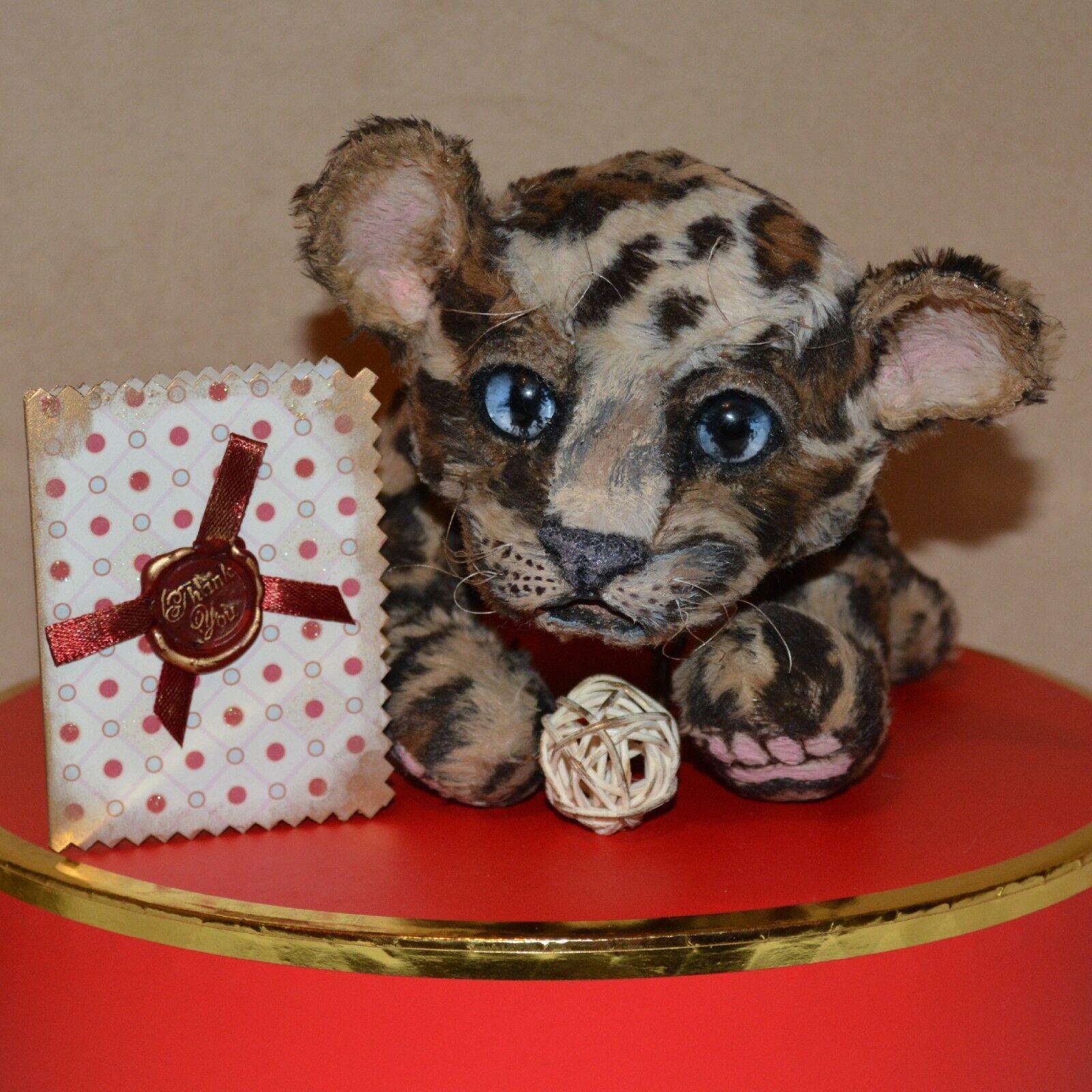 Artist leopard OOAK animal Jelena K.