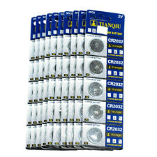 50 PCS CR2032 Lithium Battery 3V Button Cell Batteries-Carded