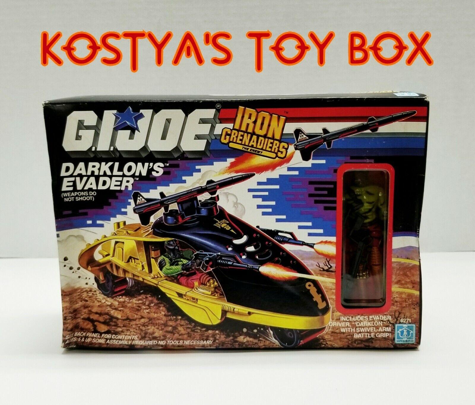 Gi joe Darklon 1989 MIB Fábrica Sellada Figura de acción de Hasbro Vintage & Evader