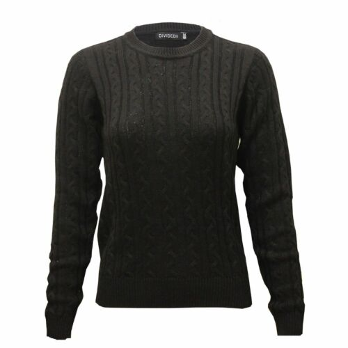 New Women/'s Ex H/&M Full Body Cable Knitted High Quality Spring Jumper