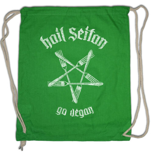 Hail seitan Turnbeutel Satan Heil vegan food Vegetarian Animals Welfare