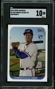 RONALD-ACUNA-JR-2018-Topps-Archives-Snapshots-RC-Rookie-Braves-SGC-10-GM