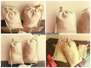 3x5 inch Organic Jute or Burlap Bags * Nice Thick QUALITY* Quantity- 100 *SALE*