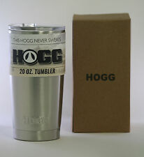 HOGG 20 OZ Tumbler Stainless Steel Rambler - Best Hot Cold Drink Travel Cup Mug