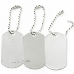 Details about WHOLESALE 100 200 500 1000 BLANK DOG TAG STAINLESS STEEL  MILITARY SPEC+ KEY TAGS 498650f0f781