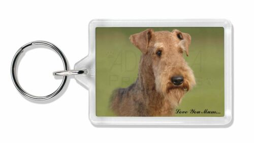Airedale Terrier Dog 'Love You Mum' Photo Keyring Animal Gift, AD-AD1lymK