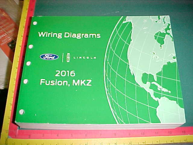 2016 Ford Fusion  Lincoln Mkz Wiring Diagrams Manual New
