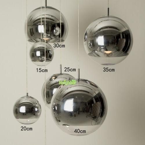 Classic Glass Ball Chrome Shade Mirror Pendant Lamp Star Sphere Ball Chandelier